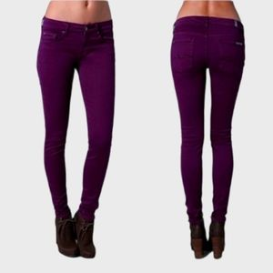 7 FOR ALL MANKIND GREAT COND DK PURPLE SKINNY JEAN